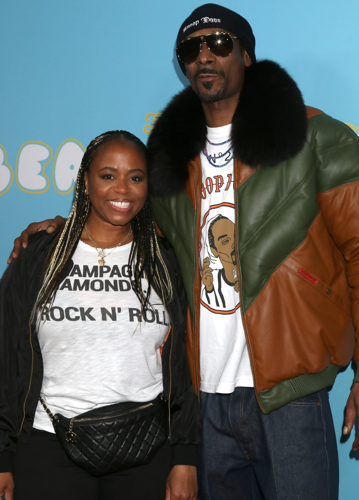 """Shante Broadus and her husband Snoop Dogg attends the Los Angeles premiere of Neon and Vice Studio's """"The Beach Bum"""""""