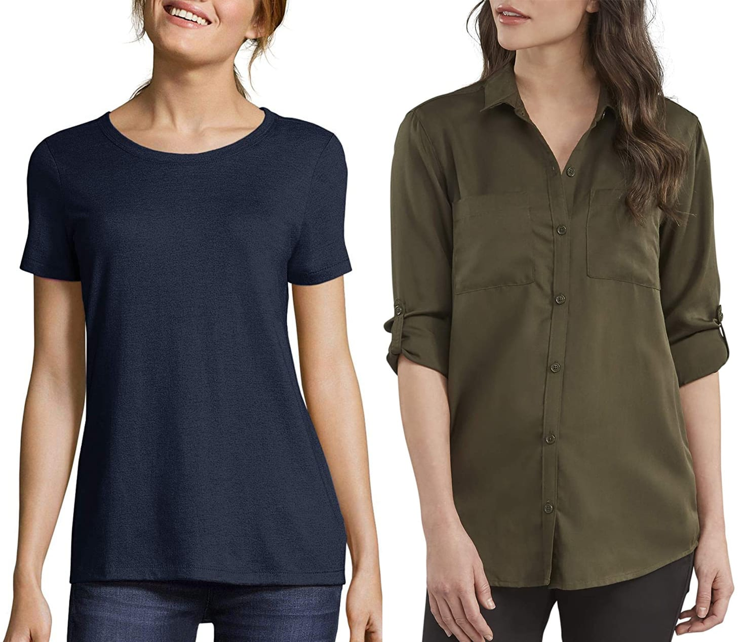 Modal (left) and lyocell (right) are two kinds of rayon fabric that are used in fashion