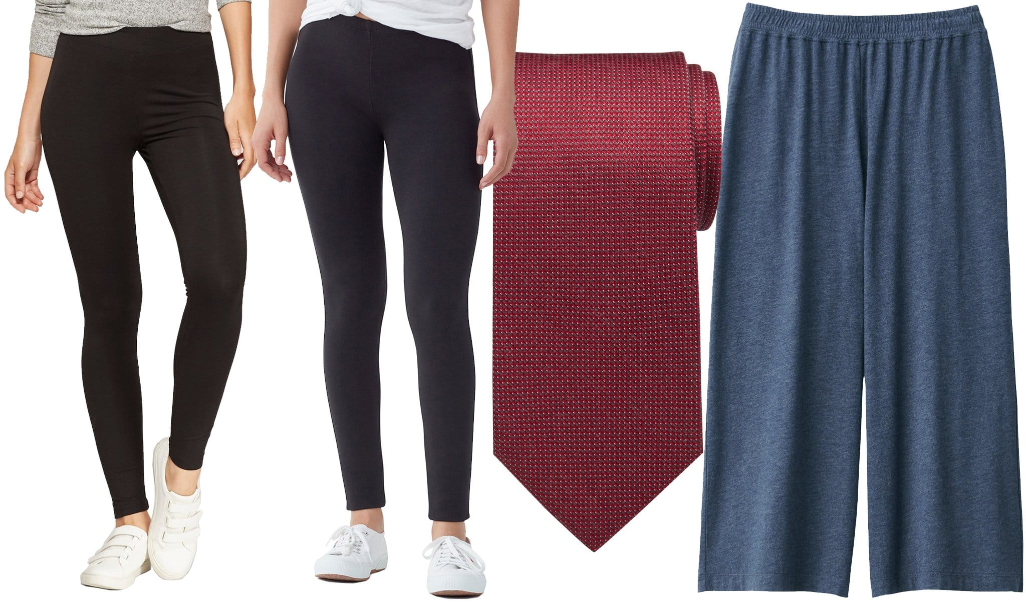 Rayon is commonly found in athletic wear like Target's $14.99 high-waisted leggings and Splendid's $158 French-Terry leggings as well as in accessories like Men's Warehouse's $50 necktie and in casual wear like Muji's $20 pants