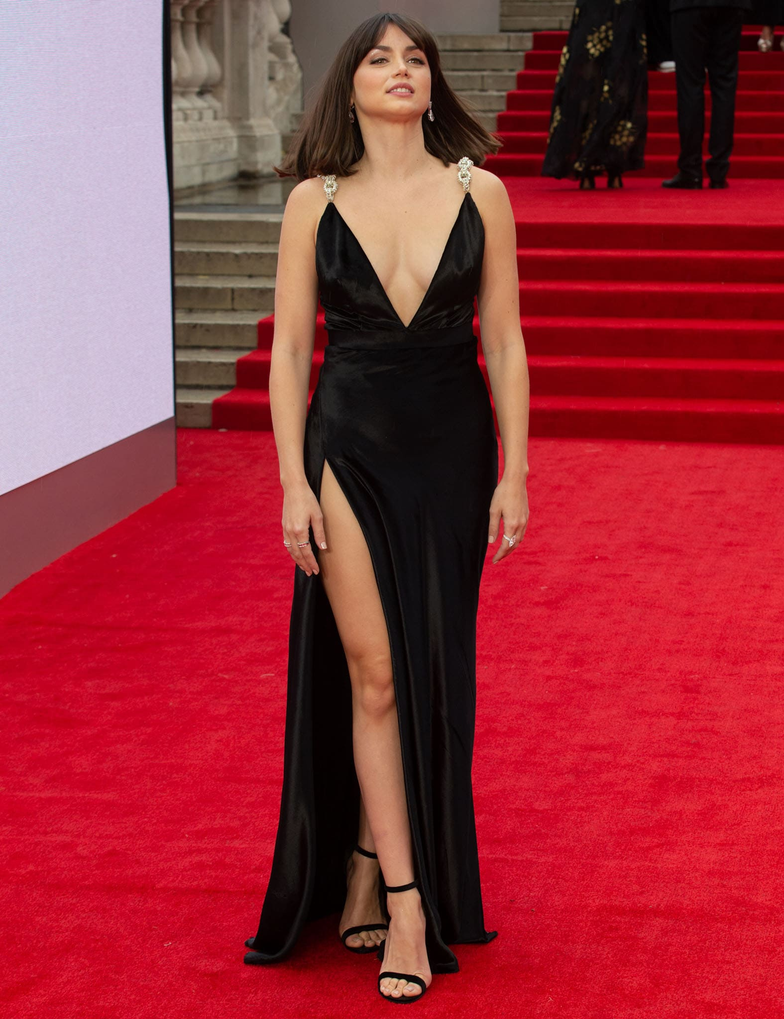 Ana de Armas looks every inch the movie star in her custom Louis Vuitton velvet gown