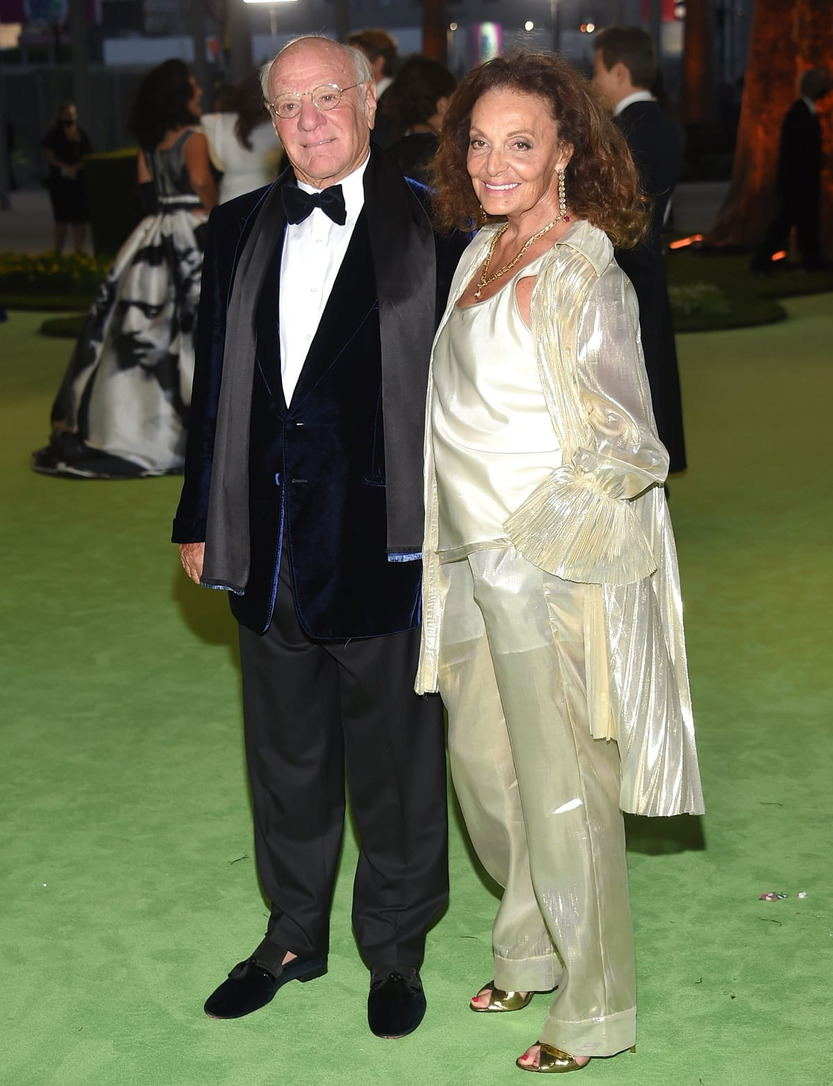 Fashion designer Diane von Fürstenberg and her husband, American businessman Barry Charles Diller, attend The Academy Museum of Motion Pictures Opening Gala