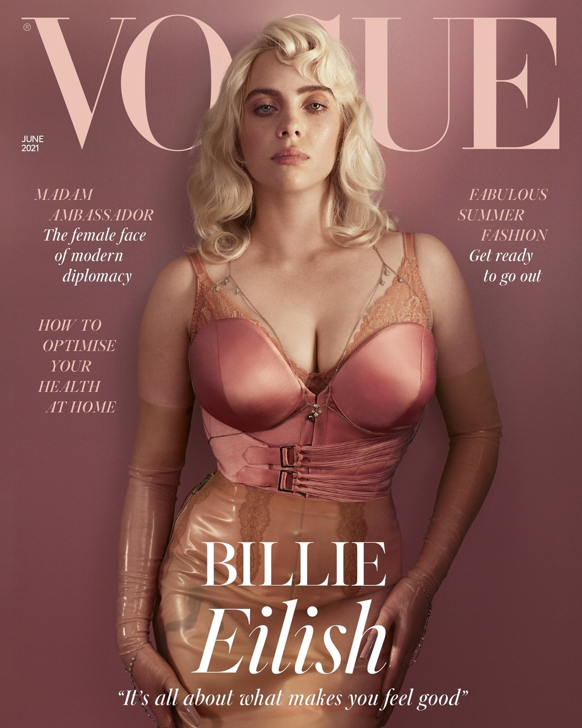 Billie Eilish shocked fans by dressing up like a pin-up girl for British Vogue's June issue in 2021