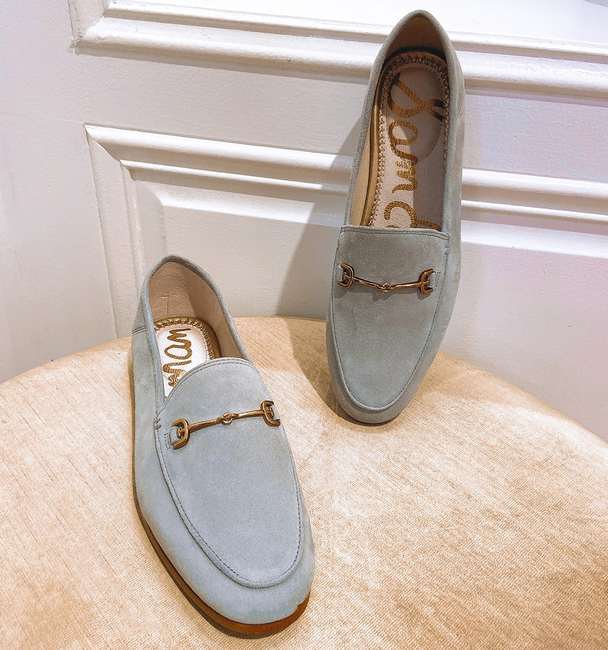 Sam Edelman's classic Loraine loafers feature bit hardware for a classic, menswear-inspired look that pairs well with jeans and pants