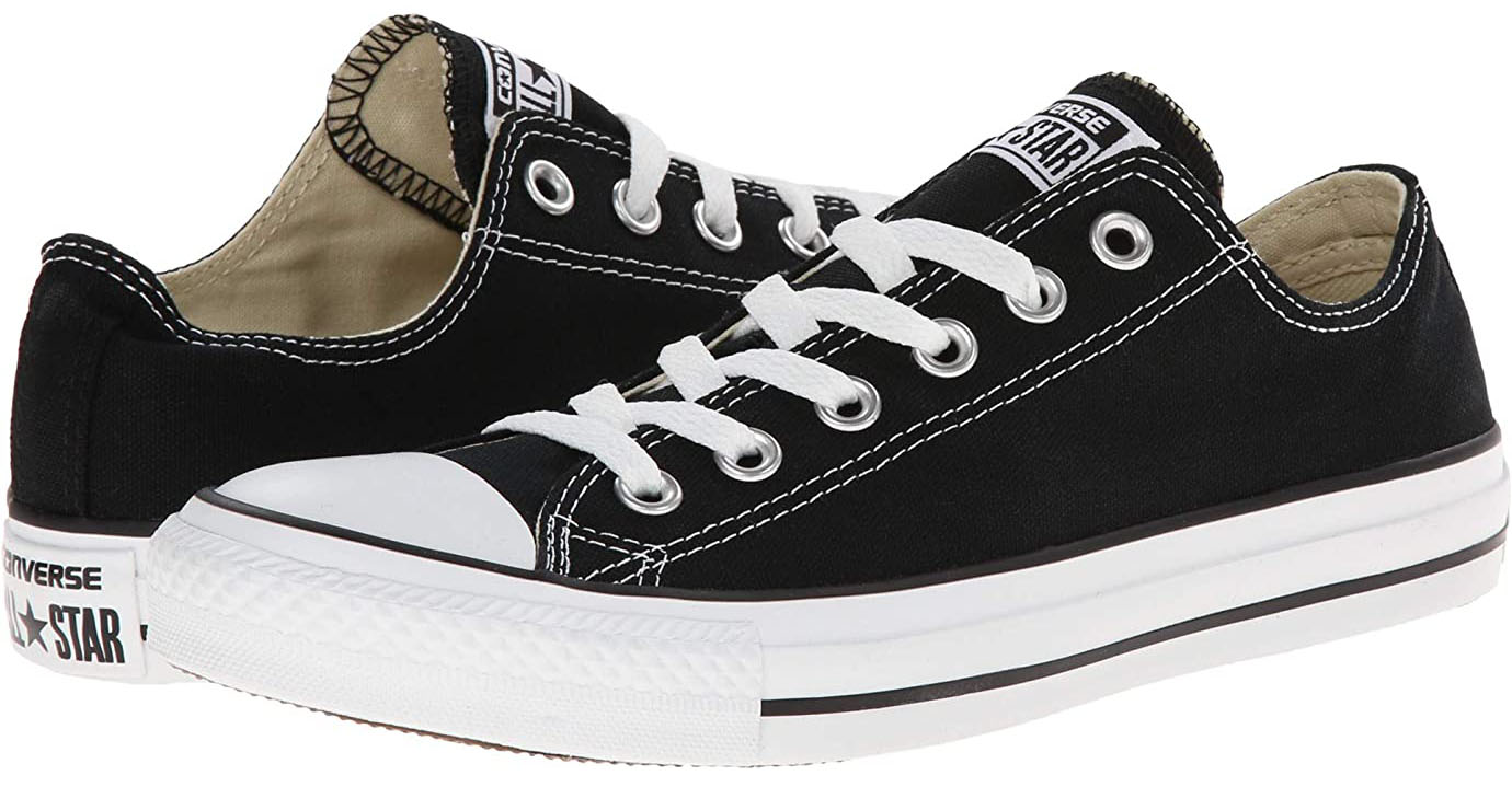 Converse's classic favorite sneakers feature a canvas upper with rubber trims