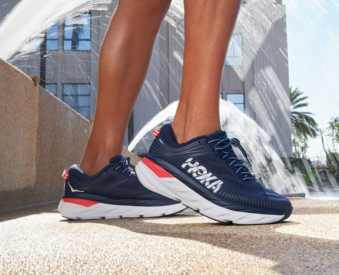 The Bondi 7 running shoes from Hoka One One are the bestselling sneakers at Zappos