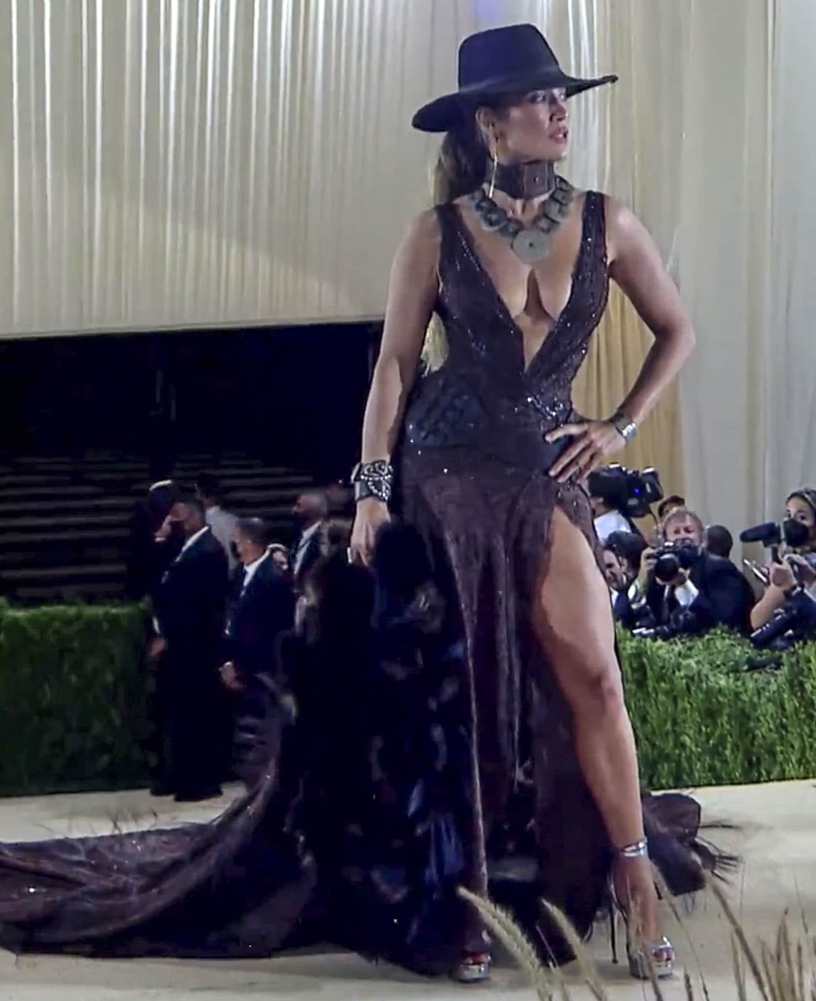 Jennifer Lopez embraces the wild, wild west in Ralph Lauren gown at the 2021 Met Gala on September 13, 2021