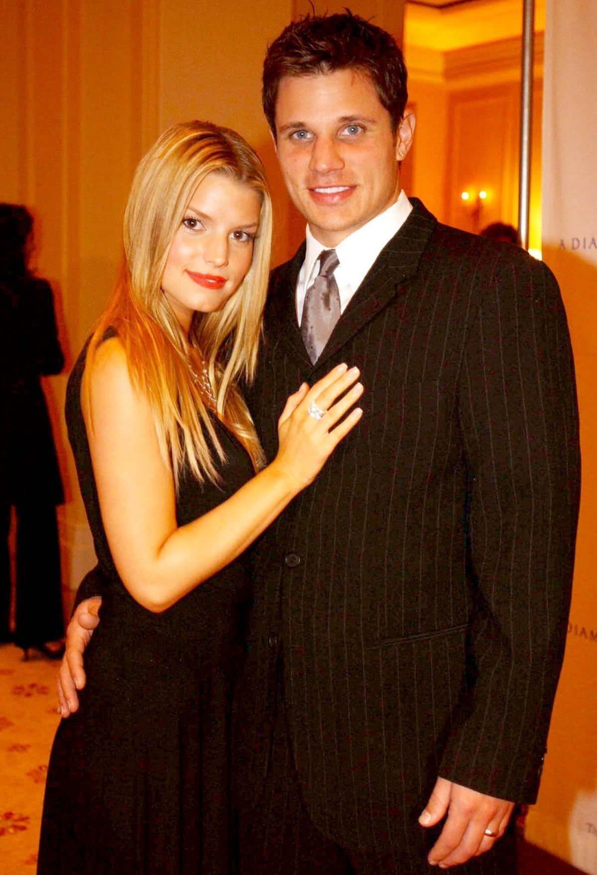 Jessica Simpson and Nick Lachey met at The Hollywood Christmas Parade in 1998