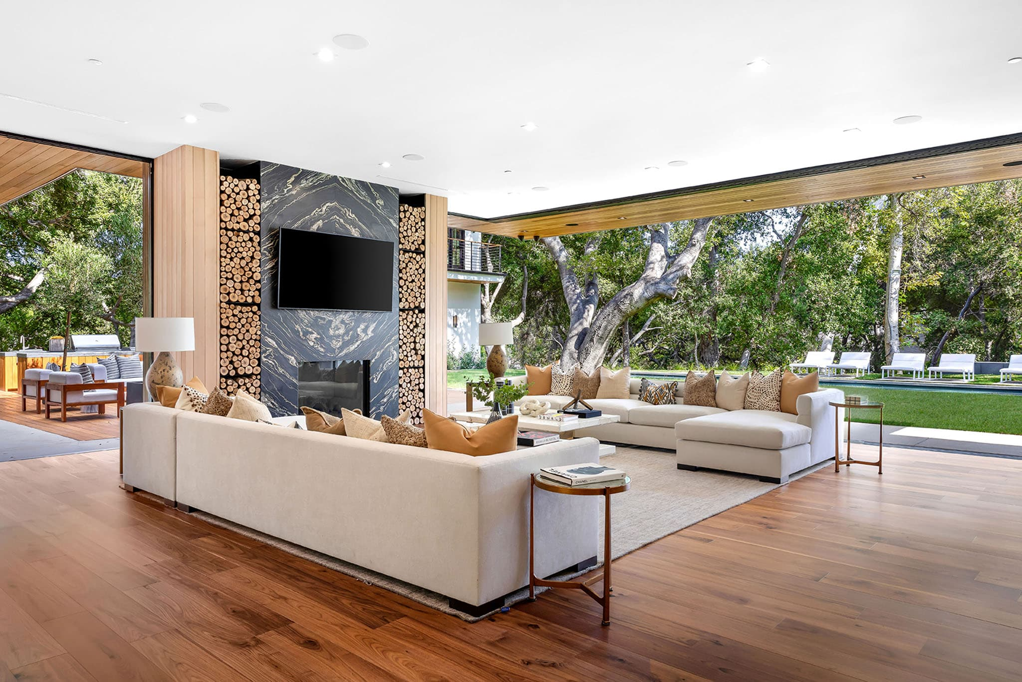 The 15,000 square-foot Encino, California mansion is designed by famed designer and A-lister favorite Jae Omar