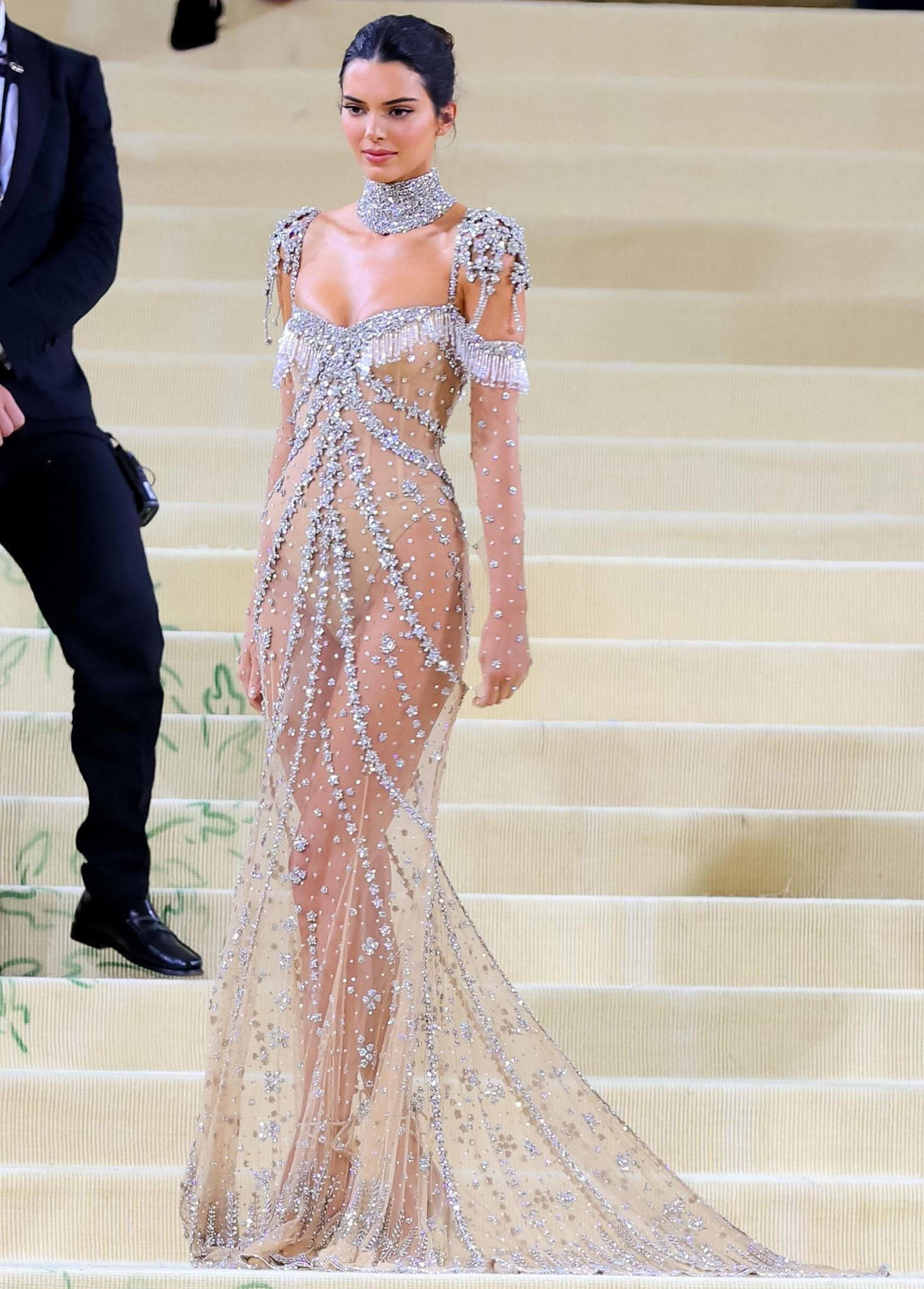 Kendall Jenner channels Audrey Hepburn's Eliza Doolittle character in My Fair Lady in her Givenchy crystal gown