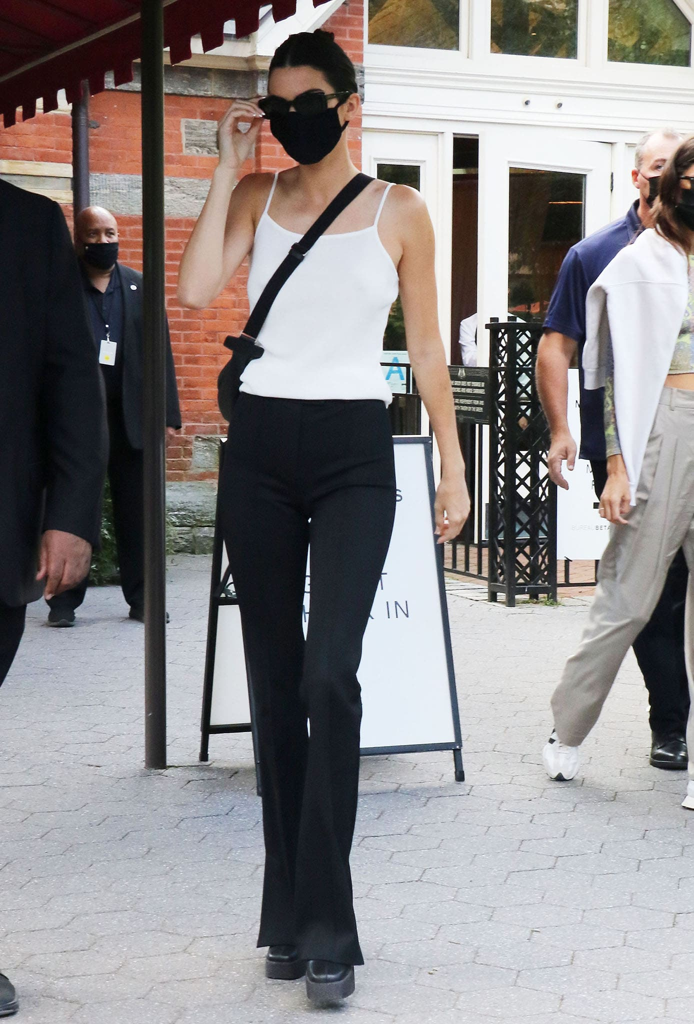 Kendall Jenner at the NYFW S/S 2022 Michael Kors fashion show at Tavern On The Green on September 10, 2021