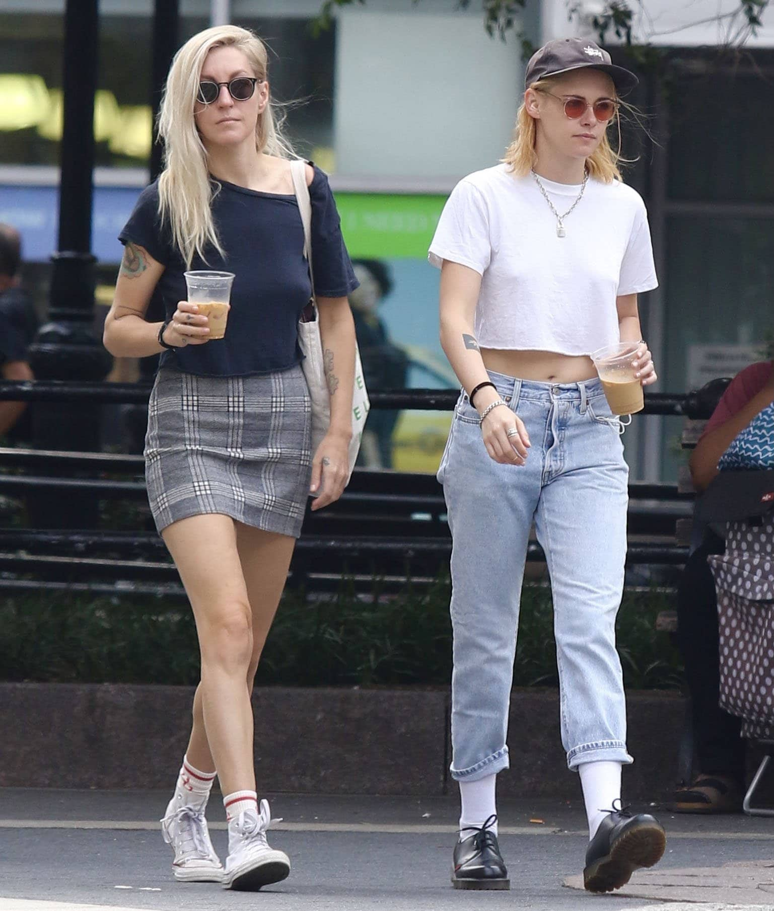 Kristen Stewart steps out with long-time girlfriend Dylan Meyer for a coffee run in Manhattan Union Square Park on September 11, 2021