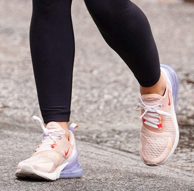 Lucy Hale completes her athleisure with her favorite Nike Air Max 270 sneakers