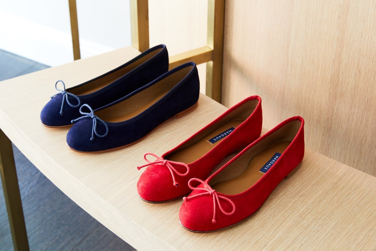 Comfortable and supportive Margaux Demi ballet flats featuring a working drawcord to customize the fit of the shoe on the go
