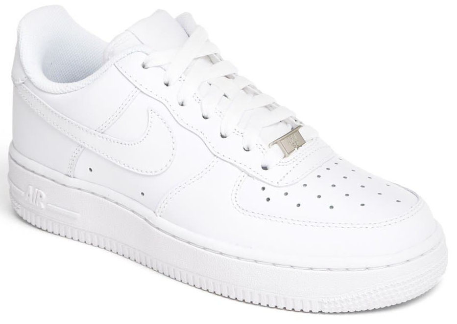 An all-time favorite shoe featuring solid white color and a low-cut profile