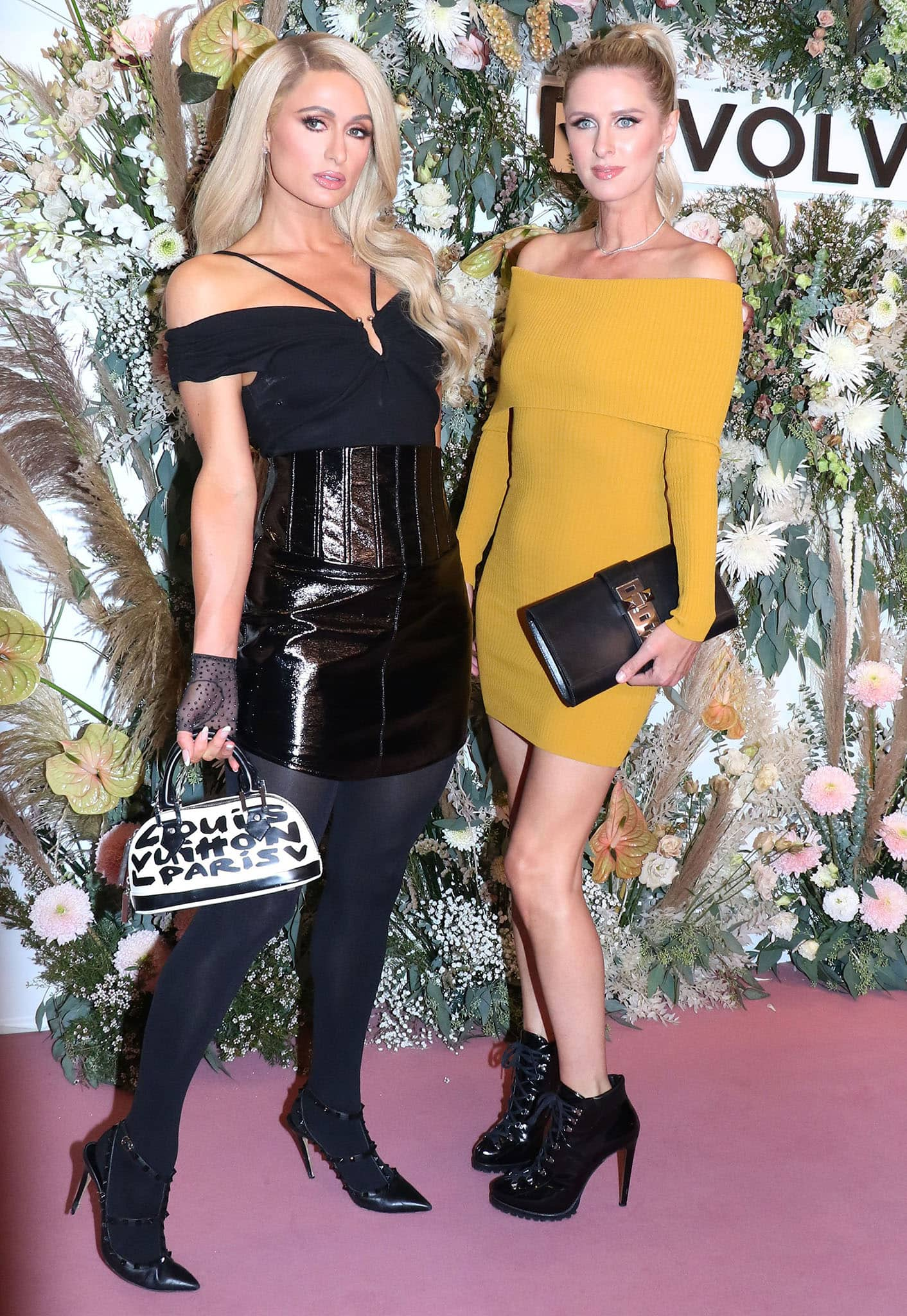 Paris and Nicky Hilton at theREVOLVE Gallery Private Event held at Hudson Yards in Manhattan on September 9, 2021