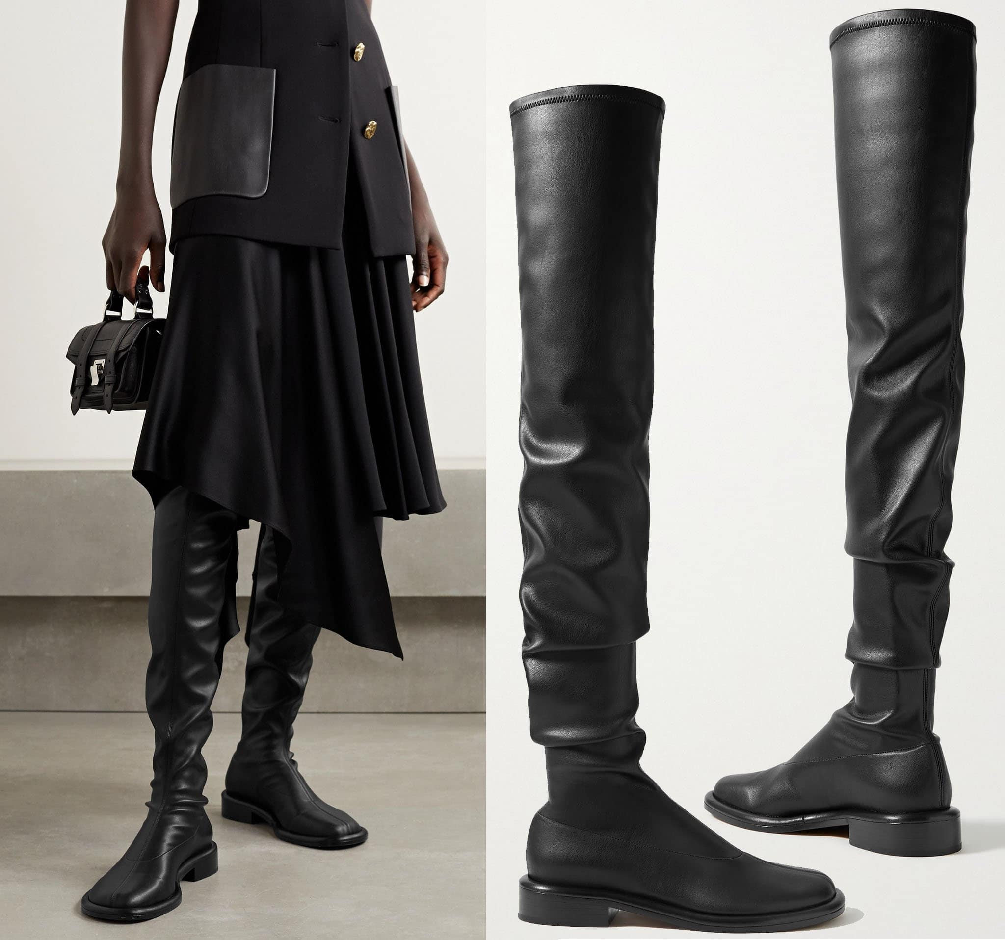 The Boyd by Proenza Schouler is made in Italy from supple black leather and feature a slouchy silhouette and comfortable rounded toes