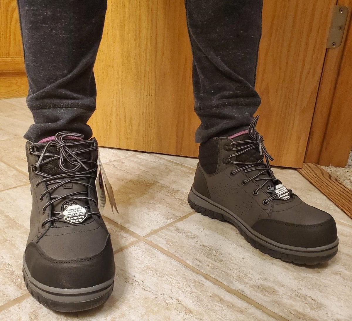 The McColl comp toe work boots from Skechers are the most popular boots at Zappos