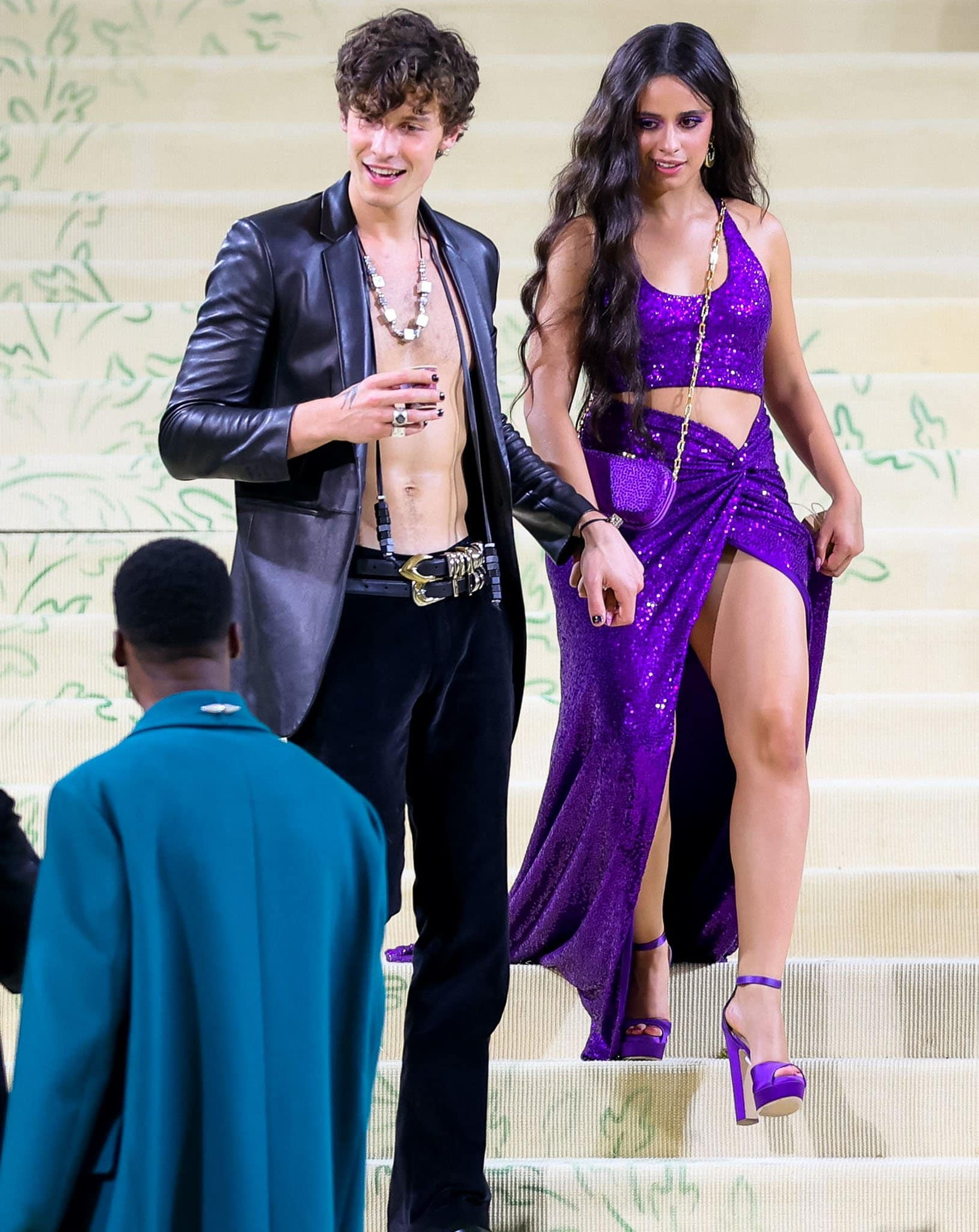Shawn Mendes and Camila Cabello channel Sonny and Cher at the 2021 Met Gala in New York City on September 13, 2021