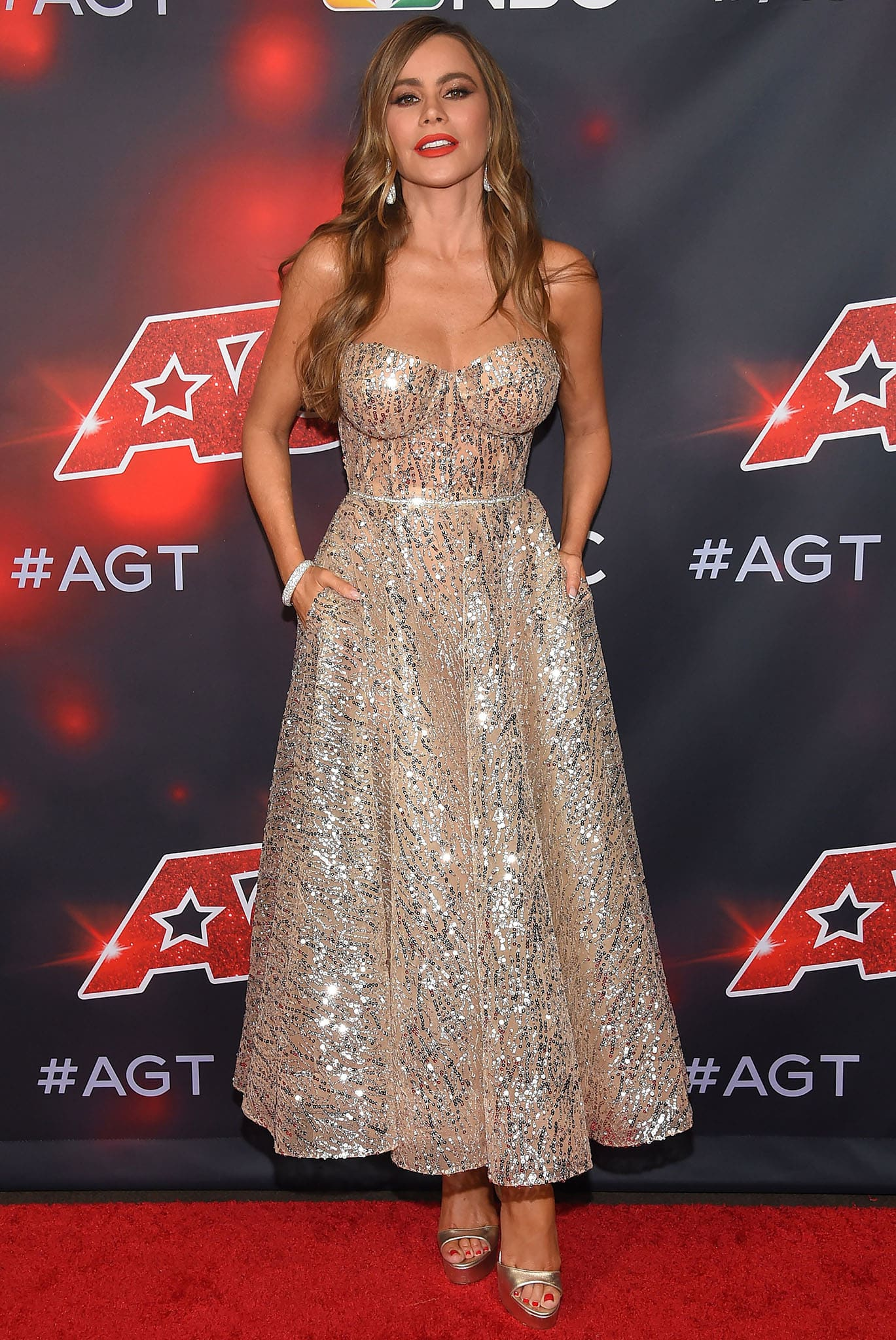 Sofia Vergara wows in a princess gown at the America's Got Talent finale at the Dolby Theatre on September 15, 2021