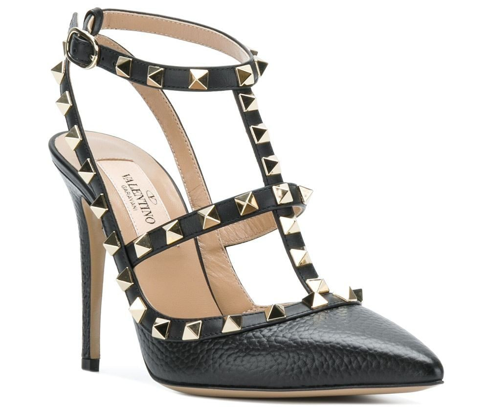 The Valentino Rockstud is defined by the caged silhouette and stud-embellished straps