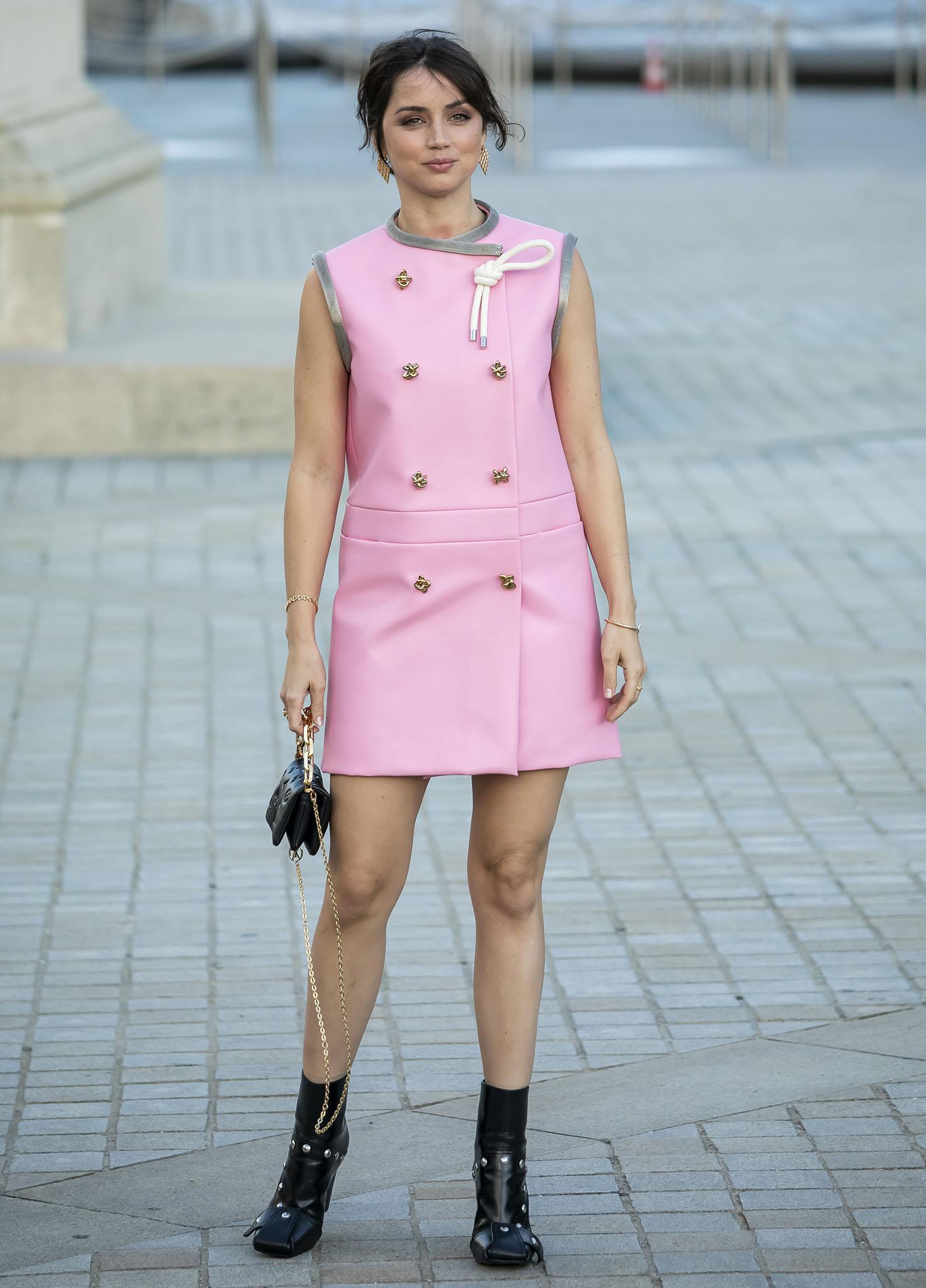 Ana de Armas at the Louis Vuitton Womenswear Spring/Summer 2022 show as part of Paris Fashion Week on October 5, 2021