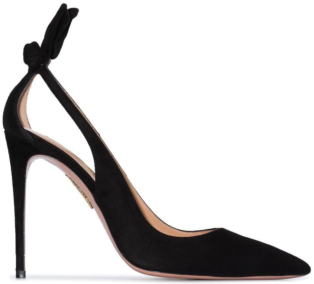 Aquazzura's Bow Tie pump has a bow-tie detail at the rear and side cutouts