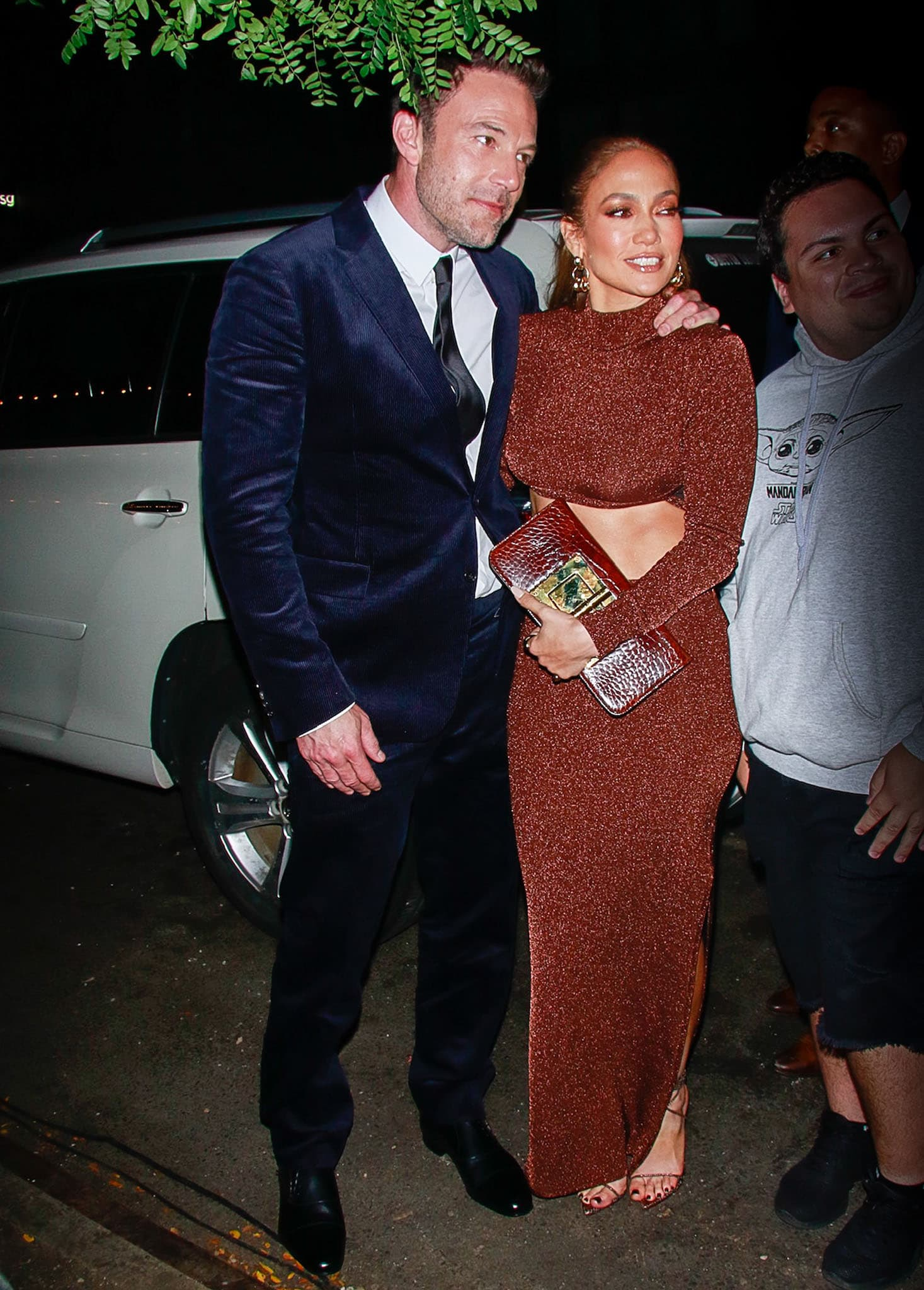 Ben Affleck and Jennifer Lopez arriving at the Lincoln Center for The Last Duel New York City premiere on October 9, 2021