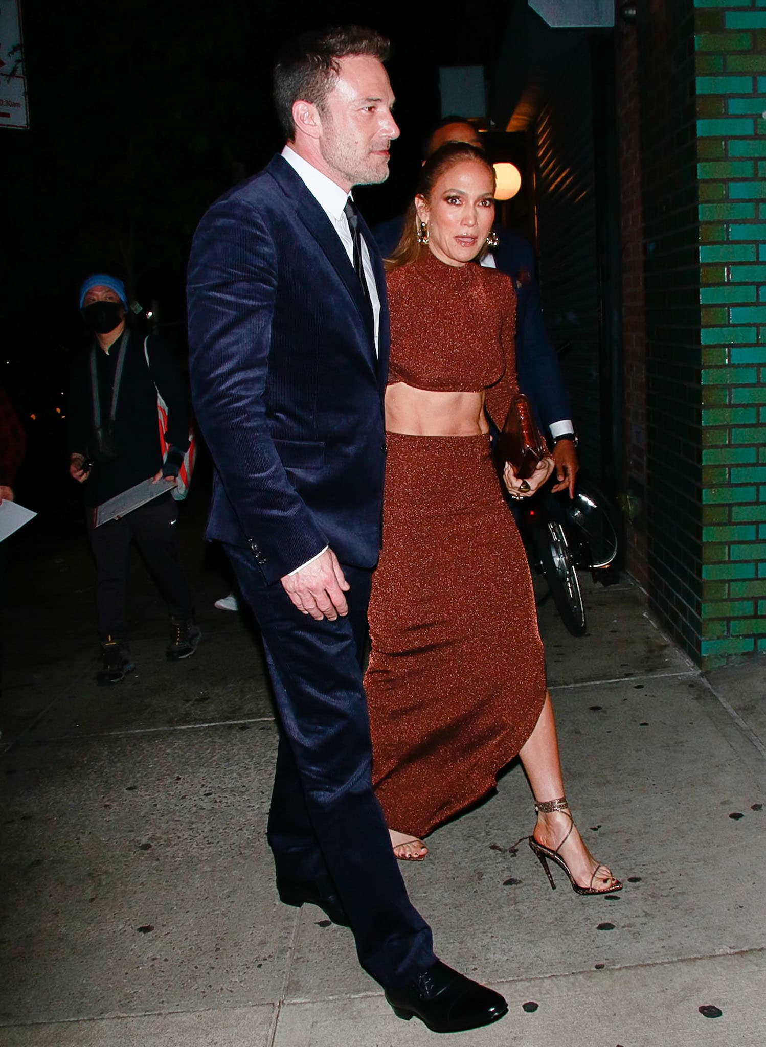 Jennifer Lopez shows support for her boyfriend as she accompanies him at the premiere of his latest movie