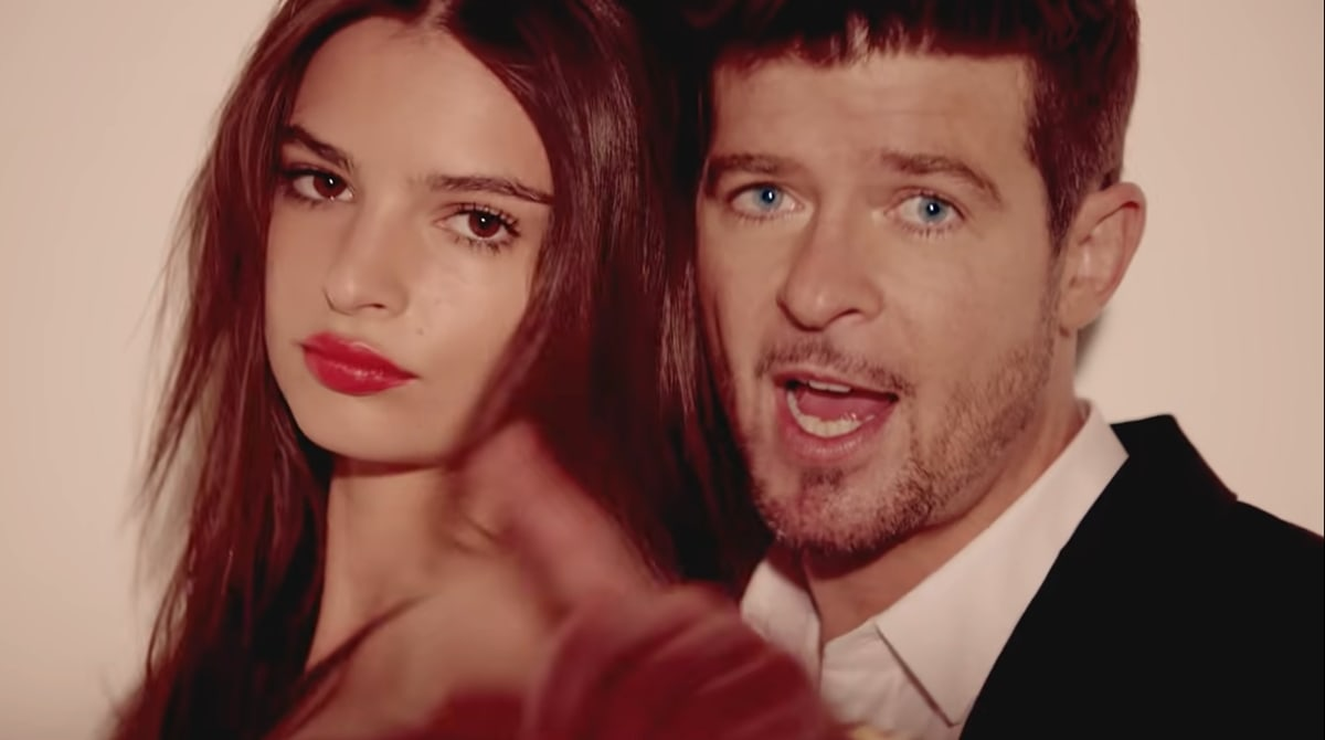 """Emily Ratajkowski says in her memoir My Body that she was sexually harassed by Robin Thicke during the recording of the music video for his single """"Blurred Lines"""""""
