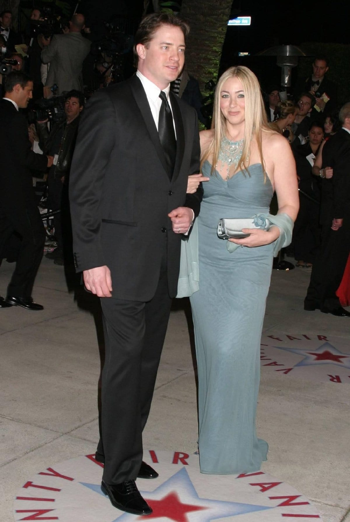 Pictured at the 2005 Vanity Fair Oscar Party, Brendan Fraser and Afton Smith filed for divorce in 2007