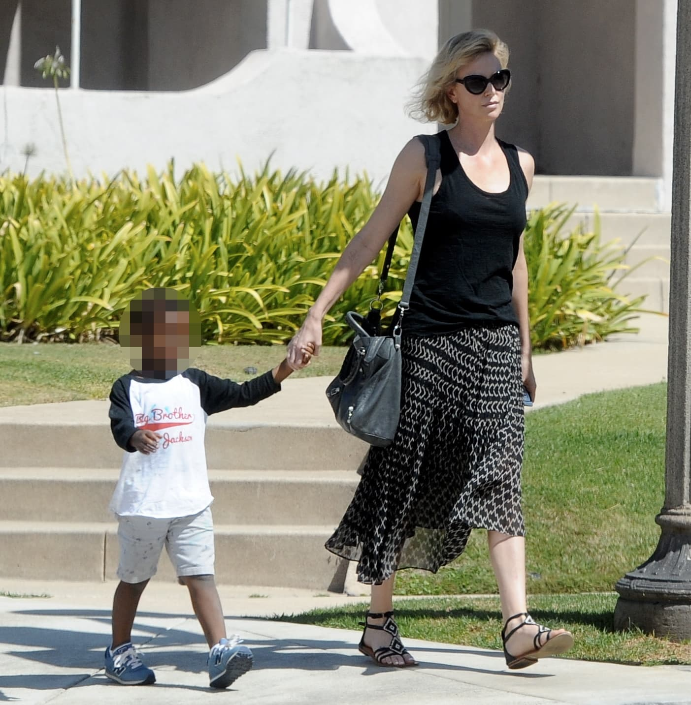 Actress Charlize Theron out with her transgender daughter Jackson Theron in Los Angeles