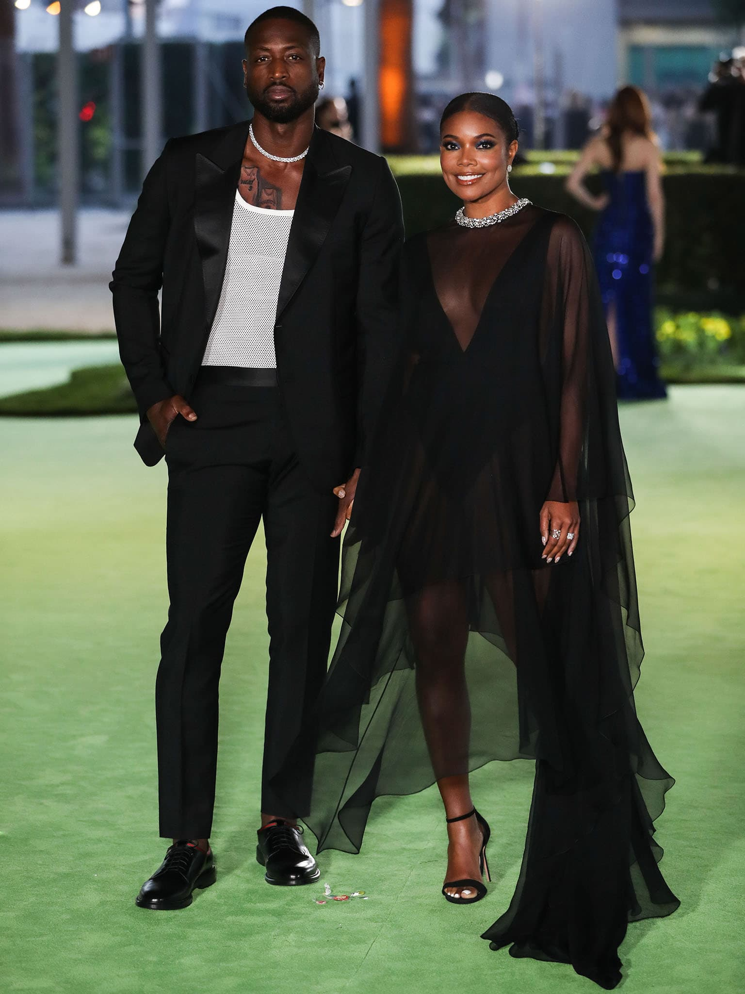 Dwyane Wade and Gabrielle Union in Alexandre Vauthier Fall 2021 Haute Couture see-through outfit at the Academy Museum of Motion Pictures Opening Gala on September 25, 2021