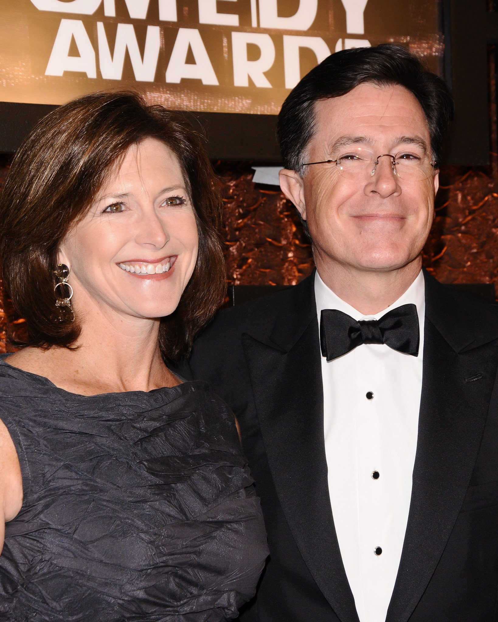 Evelyn McGee and Stephen Colbert at the First Annual The Comedy Awards in New York City on March 26, 2011