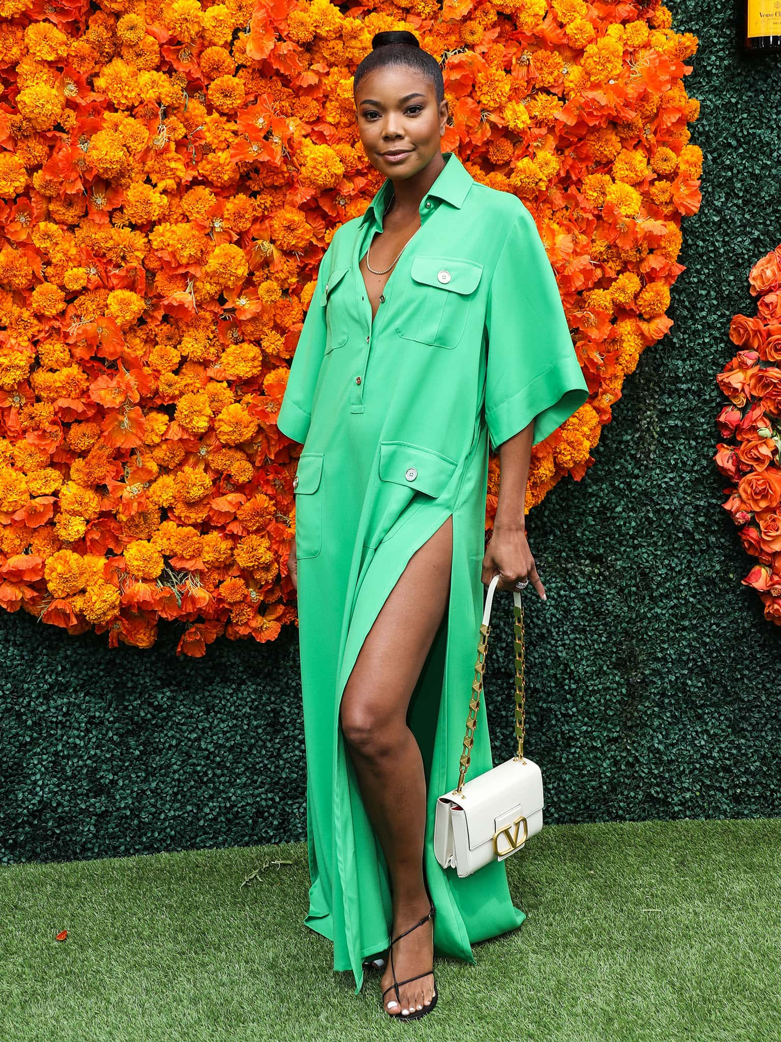 Gabrielle Union arrives solo at the Veuve Clicquot Polo Classic Los Angeles 2021 on October 2, 2021