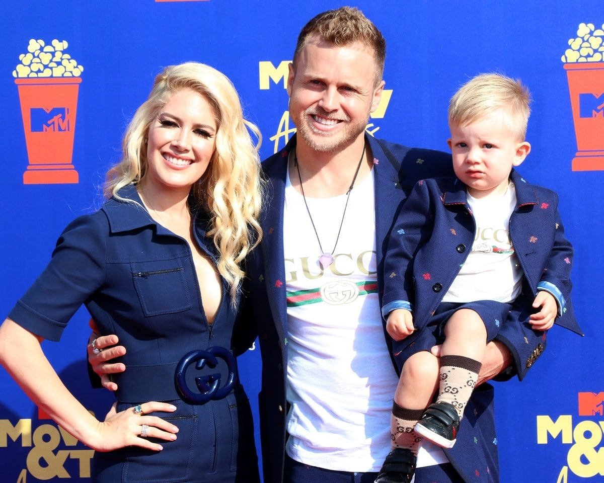 Spencer Pratt and Heidi Montag with their son Gunner at the 2019 MTV Movie and TV Awards