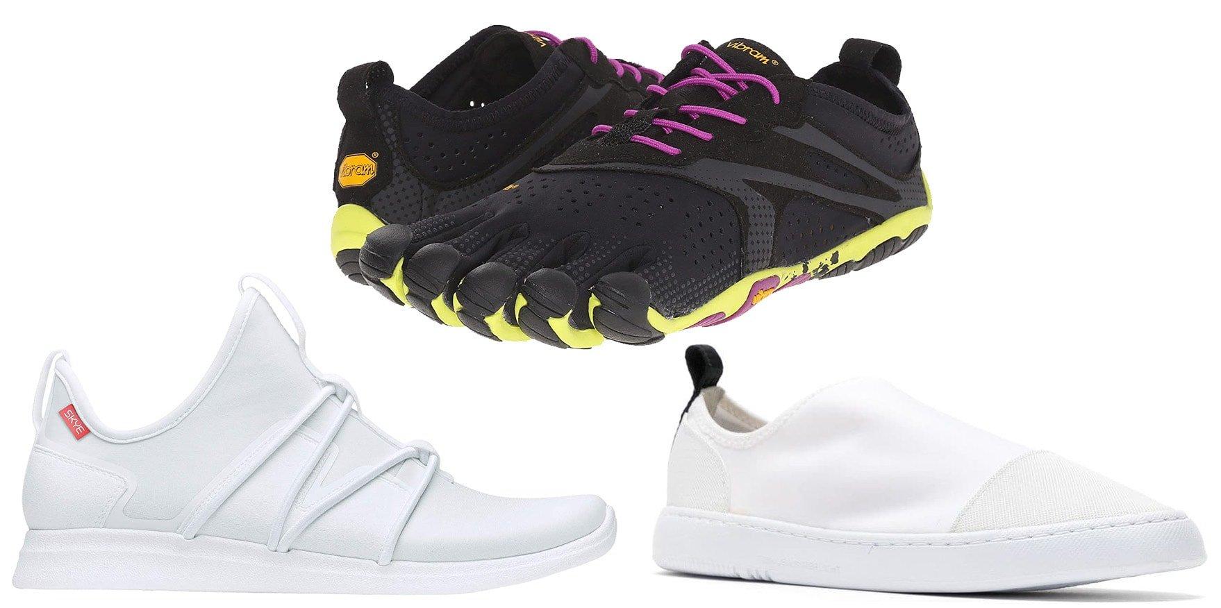 Skye The Rbutus sneakers, Vibram FiveFingers V-Run sneakers, Osklen Super Light lycra sneakers