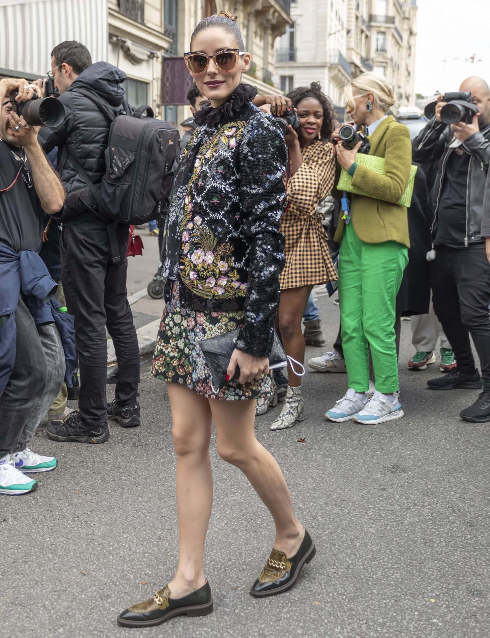 Olivia Palermo at the Giambattista Valli Womenswear Spring/Summer 2022 runway show during Paris Fashion Week on October 4, 2021