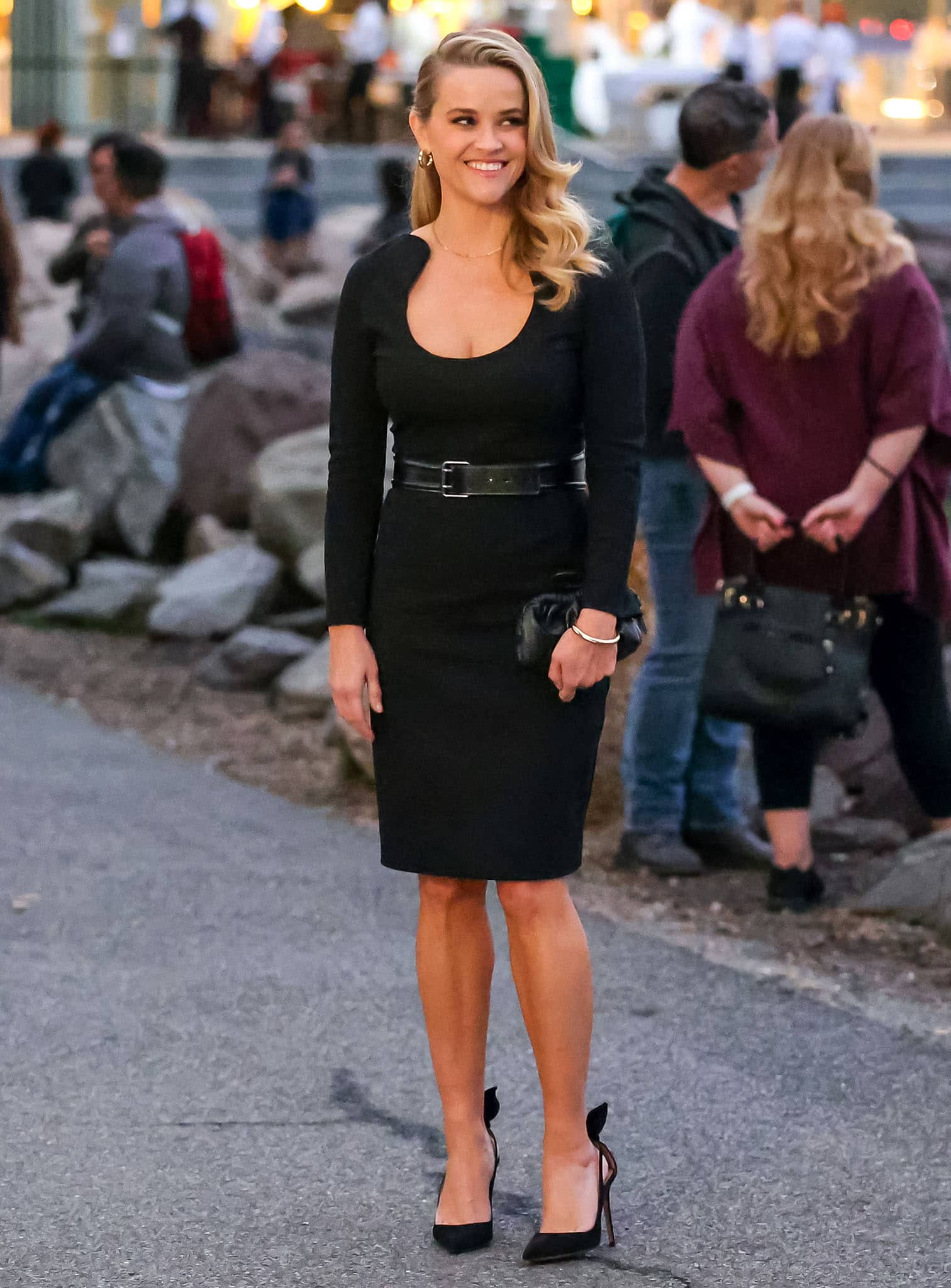 Reese Witherspoon at the movie set of her new rom-com movie Your Place or Mine in New York City on October 6, 2021