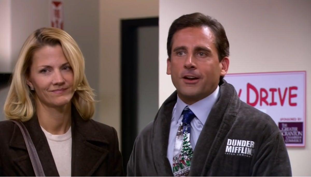 Michael Scott's girlfriend in The Office, Carol Stills, was played by Steve Carell's real-life wife Nancy Ellen Carell (née Walls)