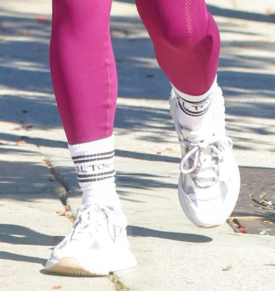 Vanessa Hudgens completes her activewear with Mercer Amsterdam Jupiter shoes